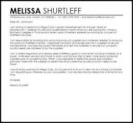 Sample Cover Letter For A Buyer Job Cover Letters