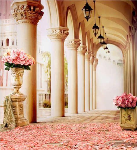 xft pink rose flowers porch pillars custom photo