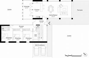 Maison Architecte Plan : plan maison d 39 architecte contemporaine ooreka ~ Dode.kayakingforconservation.com Idées de Décoration