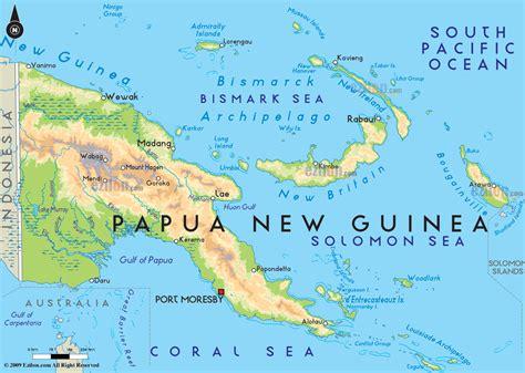 road map  papua  guinea  papua  guinea road maps