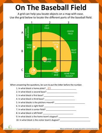 baseball field diagram baseball activities baseball activities sports theme classroom