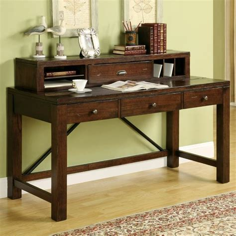 Black Writing Desk With Hutch by Castlewood Writing Desk With Hutch