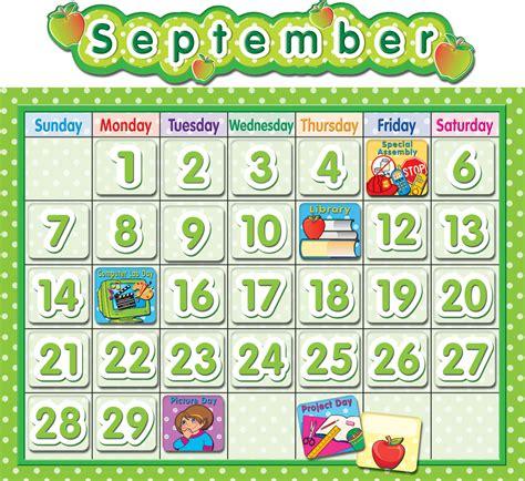 polka dot school calendar bulletin board tcr teacher created