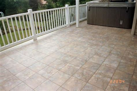 porcelain tile patio from phoneix tile installation in
