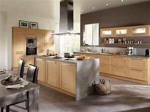 Chantier deco cuisine en bois clair for Deco cuisine avec salle a manger moderne bois clair