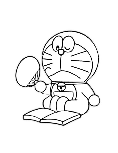 Doraemon Coloring Pages in A4 paper size (8.5 x 11)