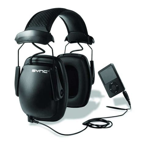 noise cancelling headphones for mowing lawn howard leight by honeywell sync stereo mp3 earmuff 8965