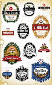 beer label template 27 free eps psd ai illustrator With beer label stickers