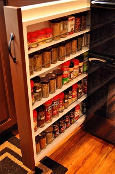 slide out spice racks for kitchen cabinets 7 clever ways to spices the organized 9767