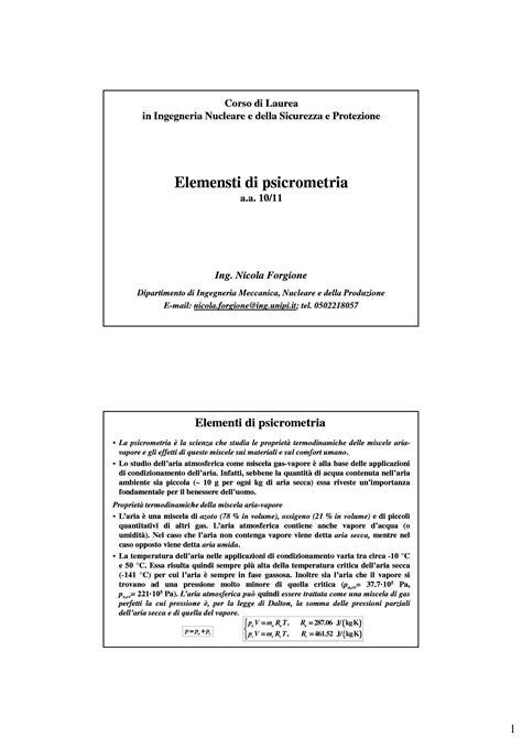 Dispense Impianti Industriali by Psicometria Fondamenti Dispense