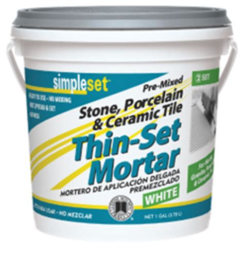 Premixed Tile Adhesive Vs Thinset by Mastic For Ceramic Tile For Shower Walls