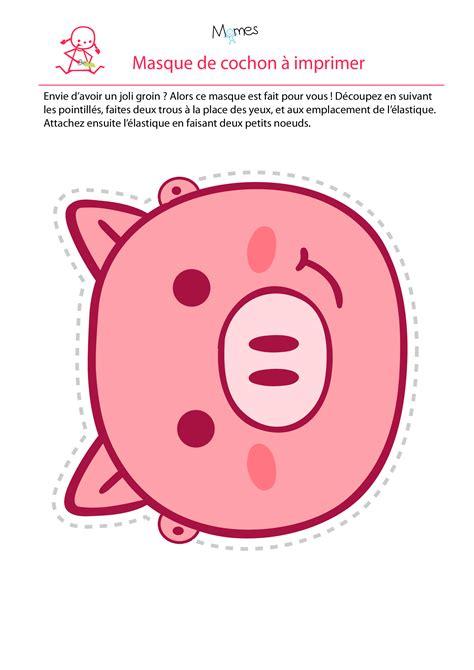 recette de cuisine équilibré masque de cochon momes