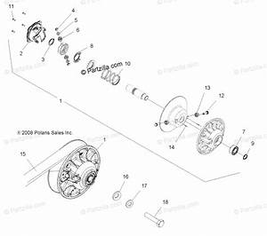 Polaris Atv 2009 Oem Parts Diagram For Drive Train