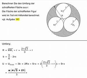 Mittelpunkt Kreis Berechnen : umfang der schraffierten fl che berechnen planimetrie ~ Themetempest.com Abrechnung