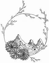 Mountain sketch template