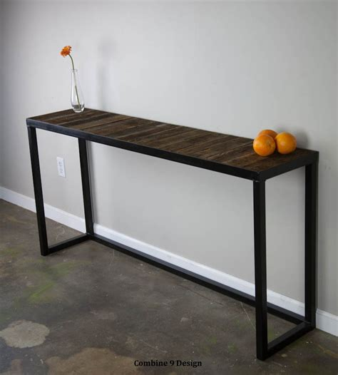 reclaimed wood sofa table sofa table with reclaimed wood modern vintage console table