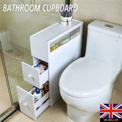 Slim Bathroom Unit by Wood Slim Bathroom Storage Cupboard Thin Cabinet Unit