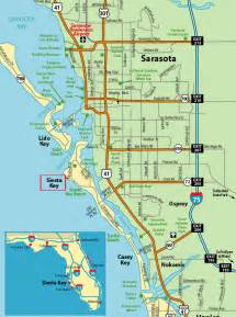 Siesta Key Beach Florida Map