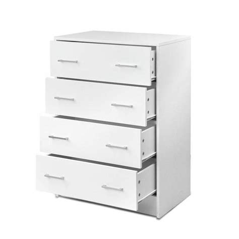 Buy Cabinet Drawers by Buy Tallboy 4 Drawers Storage Cabinet White In