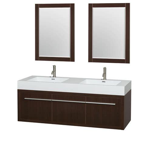 axa  wall mounted double bathroom vanity set