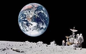 Earth from Moon Wallpaper - WallpaperSafari