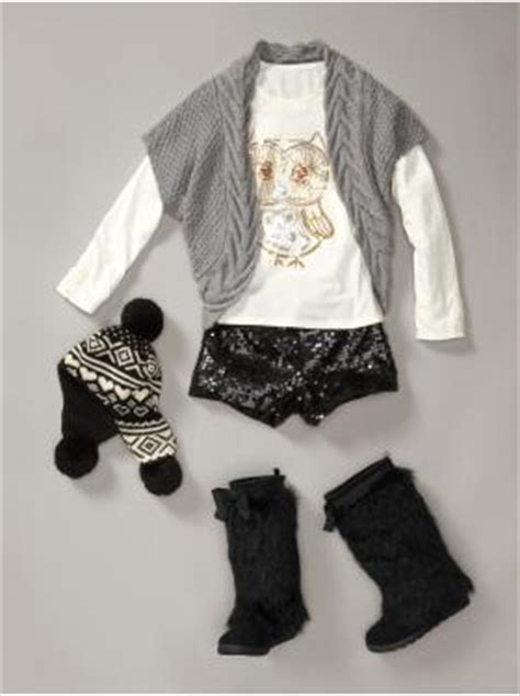 gap   kid  wear sequined hot pants  winter