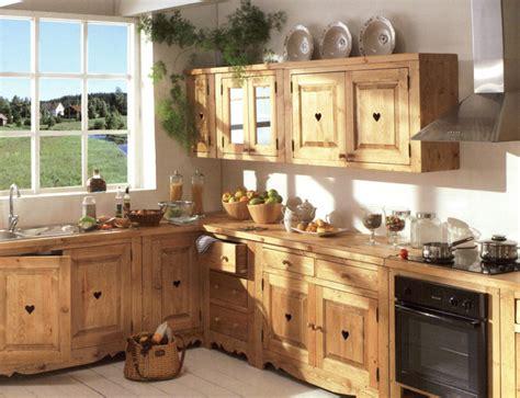 meubles de cuisine en bois meuble de cuisine bois brut le bois chez vous
