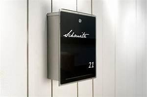 Briefkasten Edelstahl Design : radius design briefkasten mit glasfront letterman 3 edelstahl schwarz ~ Markanthonyermac.com Haus und Dekorationen