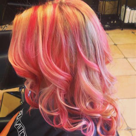 Peachy Coral Pink Lemonade Hair Perfect Hair Dye