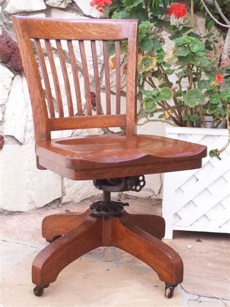 antique wooden swivel desk chair antique bankers oak rolling desk chair 1920s wood casters