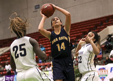 palm beach girls hoops  boca poised  state title