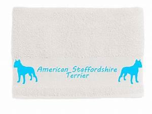 Klodeckel Aufkleber Selbst Gestalten : handtuch american staffordshire terrier tierisch tolle geschenke ~ Sanjose-hotels-ca.com Haus und Dekorationen