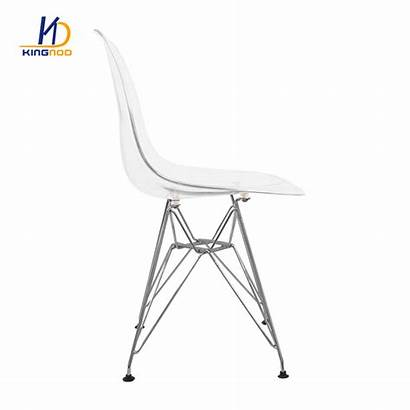 Plastic Dining Armless Comfortable Chair Transparent Wholesale