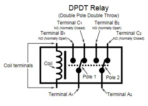 Dpdt Relay Double Pole Throw Datasheetgo
