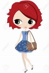 Redhead woman animation birthday icon