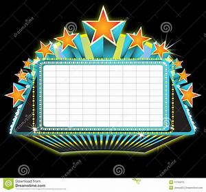 Theater marquee sign royalty free stock photo image for Theatre sign clipart