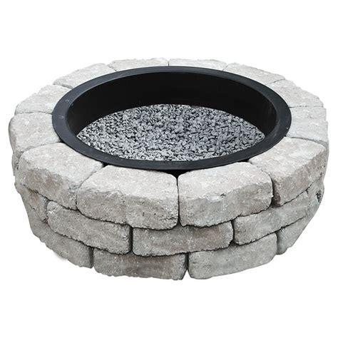 pit insert lowes permacon quot beltis quot pit kit grey charcoal r 233 no d 233 p 244 t