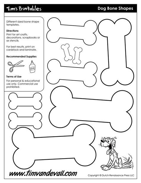 printable dog bone templates blank dog bone shapes