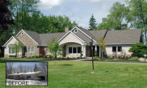 before and after house renovation trends raised ranches ranch style house remodel before and after ranch style home exterior