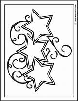 Coloring Stars Template Printable Fancy Pdf Reach Swirled Three Templates Colorwithfuzzy sketch template