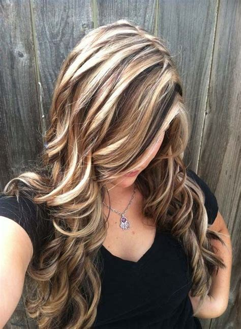 blonde highlights  light brown hair   brown