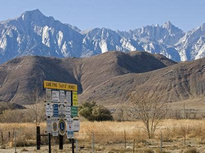 Lone Pine Sign Mount Whitney From Highway