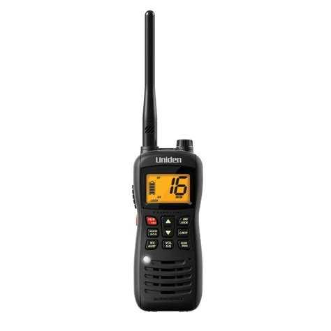 Boat Vhf Radio Channels by Uniden Mhs126 Vhf Marine Radio Boat Handheld 2 Way Noaa