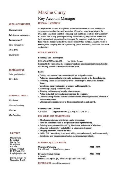 key account manager resume customers job description cv