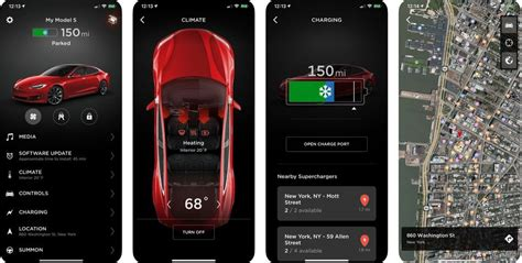 Tesla Car Apps by Tesla Releases A Mobile App Update With New Charging