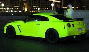 Matte Green Fluorescent Nissan GT R in Dubai GTspirit