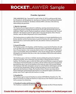 franchise agreement template franchise contract with sample With franchise documents templates