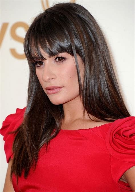 lea michele hairstyles glossy straight haircut pretty designs