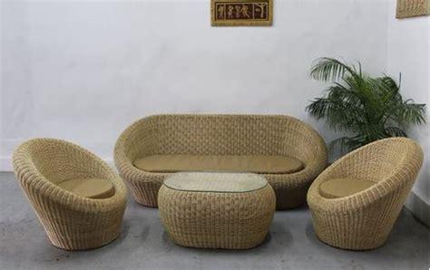 standard rottan cane sofa set rs  set bifar id
