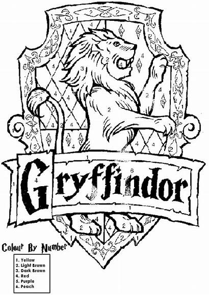 Potter Harry Gryffindor Colors Coloring Crest Pages